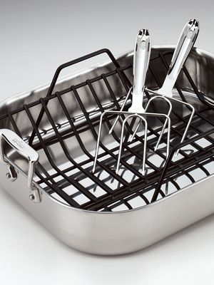 A roasting pan: Kitchens, Stainless Roasted, Roasted Pan, All Cladding Stainless, Stainlesssteel, Allclad Stainless, Turkey Forks, Products, Stainless Steel