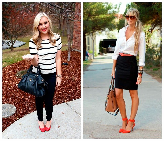estilozas: ¿Cómo combinar zapatos rojos?