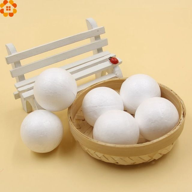 New!50PCS/Lot 40MM Modelling Polystyrene Styrofoam Foam Ball White Craft Balls For DIY Christmas Party Decoration Supplies Gifts