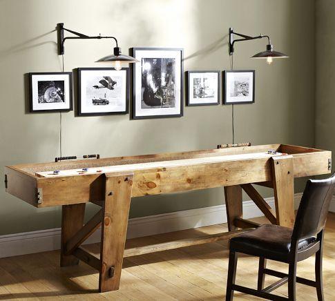 Pottery Barn Shuffleboard Table   Pottery Barn - Just kidding.  But it would be fun. $3,800