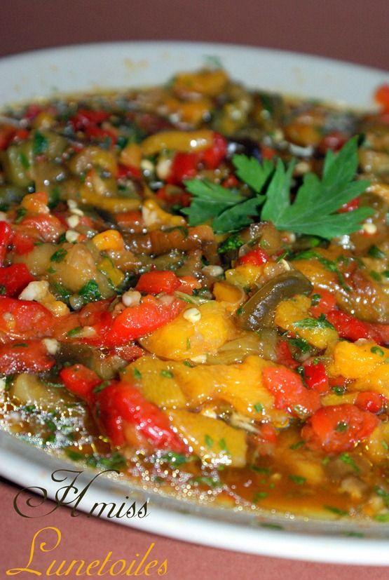 hmiss, salade aux poivrons