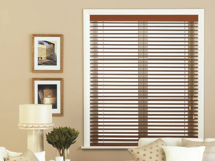 Firenze Dark Cedar Wooden Blinds - We love the way wood venetians can look just as good in a contemporary environment as they do in a more traditional setting.