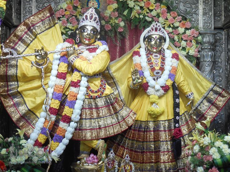 Today's (21-April-2017) Special Alankara for Sri Radha Krishnachandra on Brahmotsava celebrations @ ISKCON Bangalore.