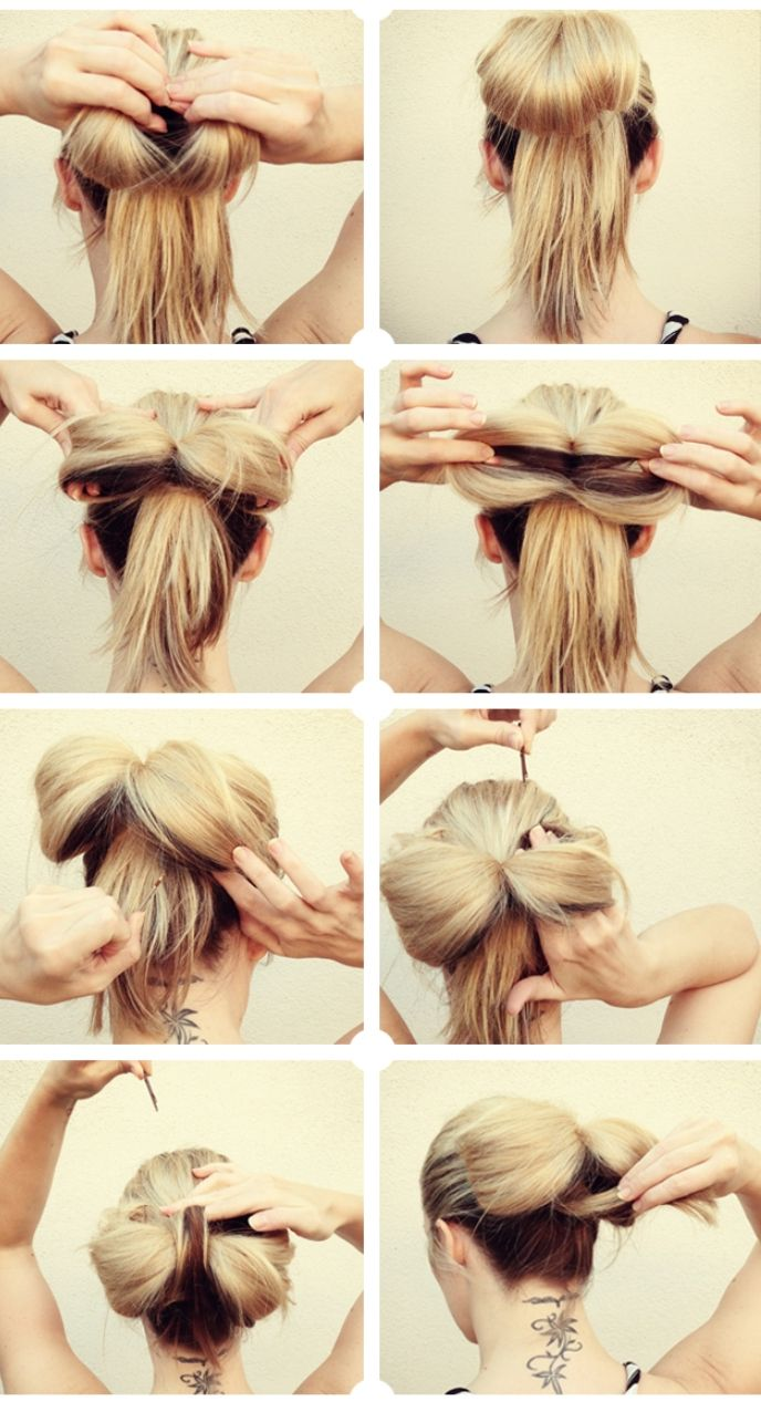 Peachy 1000 Ideas About Bow Hairstyle Tutorial On Pinterest Hair Bow Short Hairstyles Gunalazisus