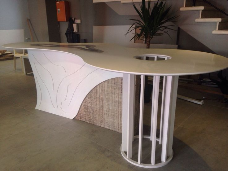Snow White Caesarstone meeting table