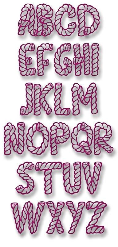 Cowboy rope font
