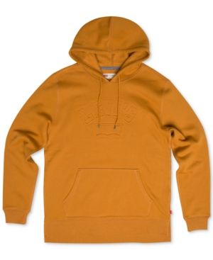 Levi's Men's Arena Embossed-Logo Pullover Hoodie - Gold 2XL