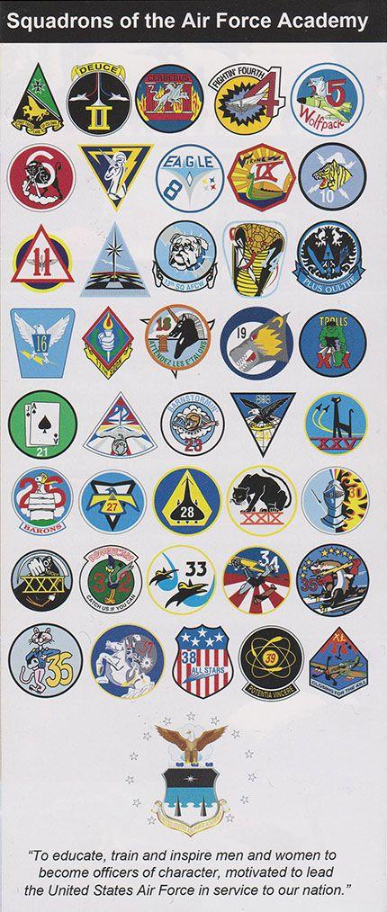 Usaf Academy Cadet Squadron Emblems Air Force Academy