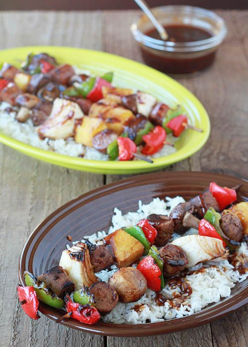 Hawaiian teriyaki shish kabobs two ways | Kitchen Treaty
