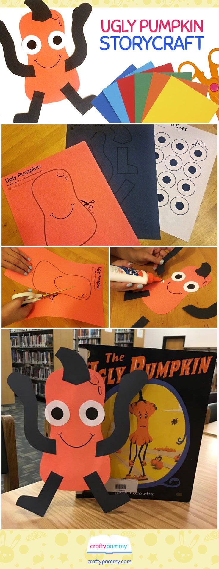 Create an Ugly Pumpkin craft to make along with the picture book: The Ugly Pumpkin by Dave Horowitz.