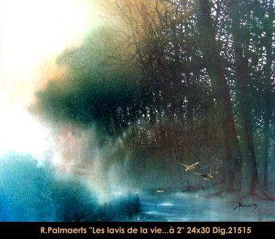 Original multimedium painting on canevas by Roland Pamaerts #Palmaerts #art #figurativeart #CanadianArt #originalartwork #mixtmedia #quebecartist #canadianartist #naturescene #contemporaryart #fineart #balcondart #multiartltee