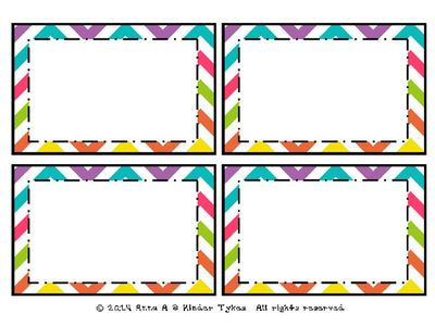 Multi Chevron Labels created by Kinder Tykes from KinderTykes on TeachersNotebook.com -  - These Multi Chevron Labels created by Kinder Tykes are perfect for labeling anything within your classroom!