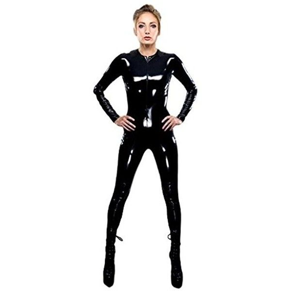 Sexy Black Latex PVC Bodysuit Cat Women Faux Leather Catsuit Erotic... ($26) ❤ liked on Polyvore featuring costumes, womens costumes, sexy cat costume, ladies halloween costumes, cat costume and womens cat halloween costumes