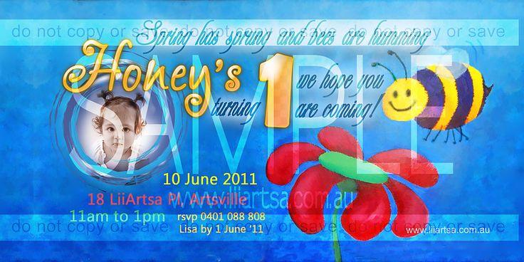 Honey Bee Childrens Birthday Invitations