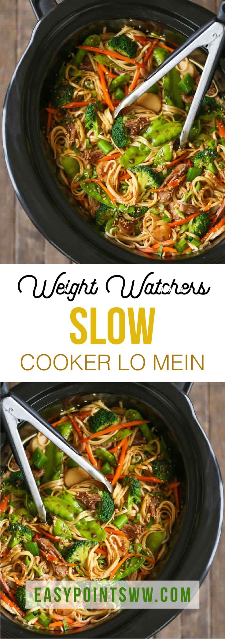 WEIGHT WATCHERS SLOW COOKER LO MEIN ♥