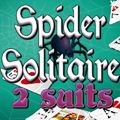 Spider Solitaire 2 suits - http://www.allgamesfree.com/spider-solitaire-2-suits/  -------------------------------------------------  Classic Spider Solitaire game with 2 suits. Make sequences of cards in suit from King to Ace to remove them from the game. You can move a card or a valid sequence (in suit) to an empty spot or to a card 1 higher in value. Click on the stack (top right) to get new cards.   -------------------------------------------------  #CardBoard