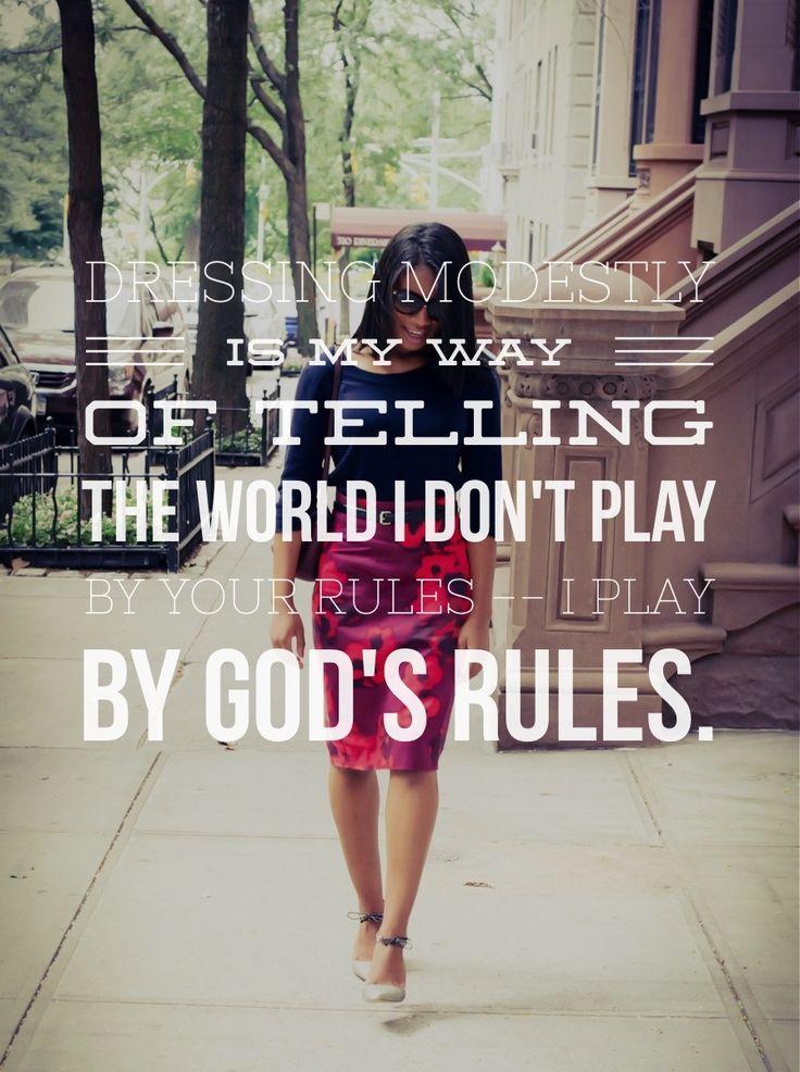 My mission statement for dressing modestly. #modestfashion #godsrulesfirst