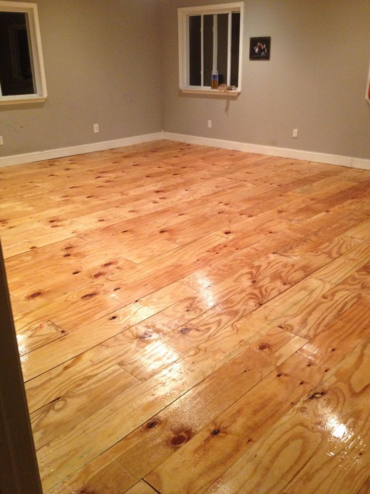 Diy Plywood Plank Floor Hearth And Home Pinterest We