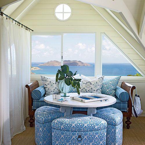 Tropical Beach House Interior: Beach House Room, Tropical Home