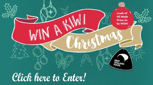 Enter every day to win tons of NZ Made Prizes with Win a Kiwi Christmas