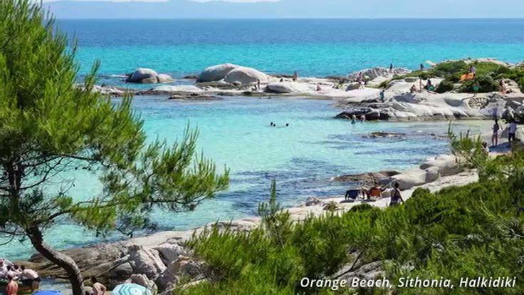 Orange Beach (Kavourotripes) Sithonia, Halkidiki, Greece - June 2015
