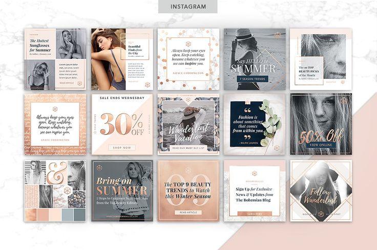 ROSE GOLD | Social Media Pack by Marigold Studios on @creativemarket
