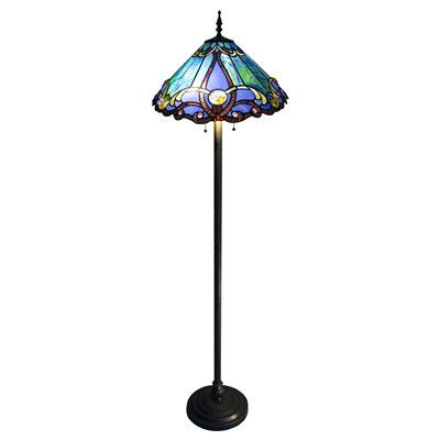 Chloe Lighting CH1B518BV18-FL2 Victorian Floor Lamp This item by Chloe Lighting is for use with two 60-watt frosted incandescent bulbs.  This Blue Victo…