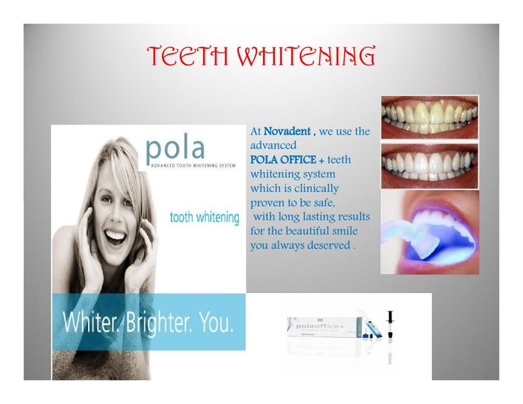 TEETH WHITENING At Novadent , we use the advanced  POLA OFFICE + teeth whitening system  which is clinically proven to be safe,   with long lasting results for the beautiful smile you always deserved . #DentalTreatment #DentalClinic #DentalSpecialist #kannur #kerala #dentalclinic #dentalcare