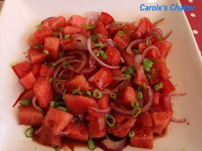 Savoury Watermelon Salad - Caroles Chatter