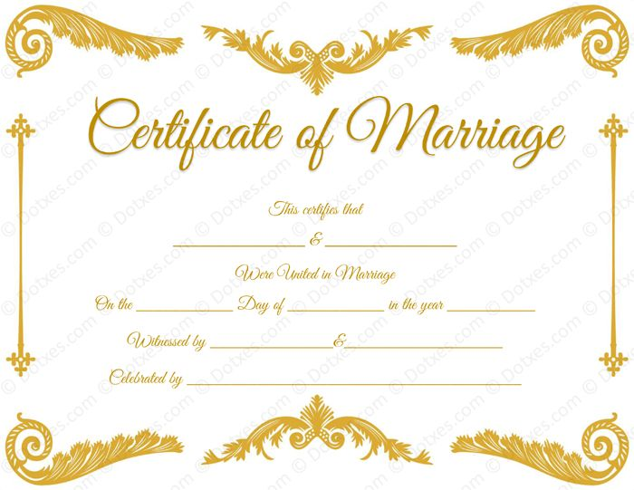 20 Best Printable Marriage Certificates Images On Pinterest