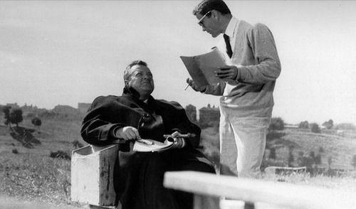 Pier Paolo Pasolini y Orson Welles