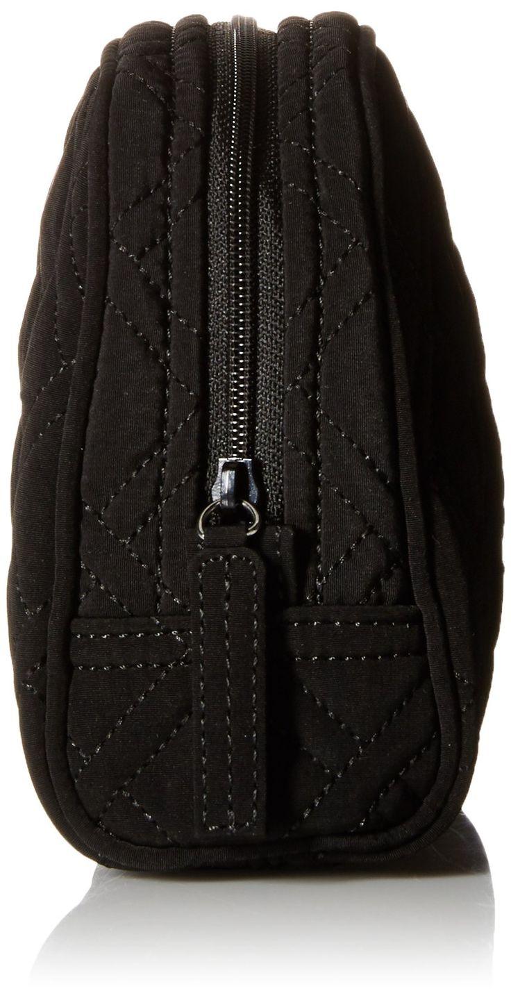 Vera Bradley Medium Zip Cosmetic Bag Classic Black One