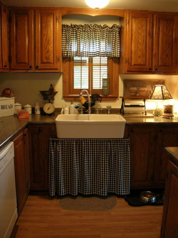 300 best images about conserve w cabinet curtains on - Country kitchen curtain ideas ...