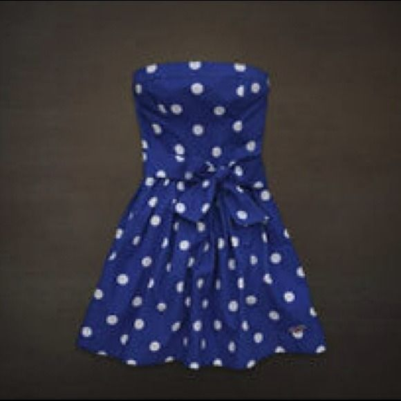 Hollister Dresses 2013 | 60% off Hollister Dresses & Skirts - Blue Polka Dot Hollister Dress ...