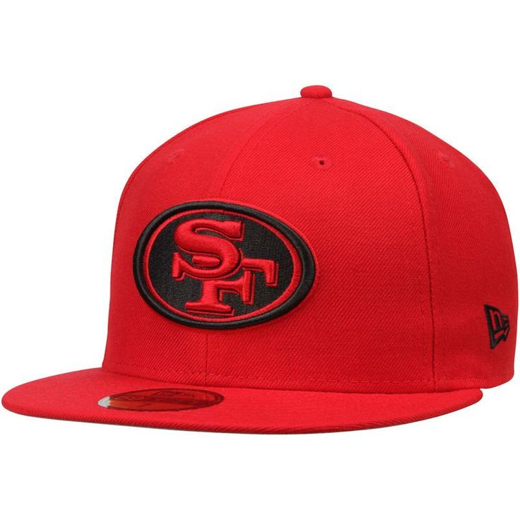 San Francisco 49ers New Era Alternate Logo Omaha 59FIFTY Fitted Hat - Scarlet
