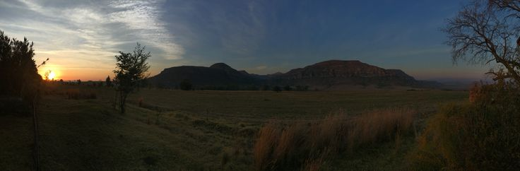 Sunset in the eastern Free State, South Africa.