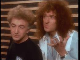 (My Gif) Queen, Freddie Mercury, Brian May, Roger Taylor, John Deacon. Headlong 1991.