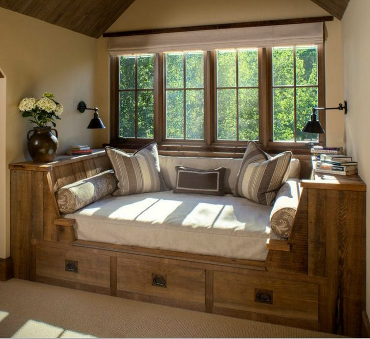 This window reading nook is pure perfection!!