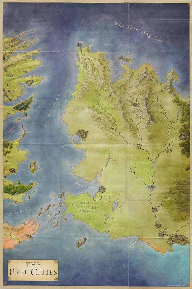The Free Cities map for Game of