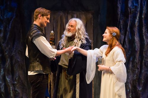 Prospero gives his blessing to Ferdinand and Miranda.  The Tempest 2015. http://www.svshakespeare.org
