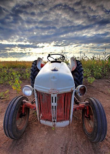 Un viejo tractor.