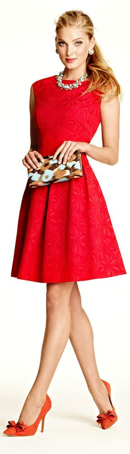 ✿~ FASHION:::WOMEN `✿⊱╮ *Adrianna Papell Floral Fit and Flare Dress*