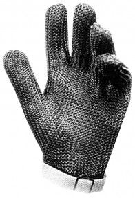 Stainless Steel Cut Resistant Glove http://ca.en.safety.ronco.ca/products/25/30/56/stainless-steel For cut-proof protection against knife blades, RONCO offers this stainless steel glove for applications involving extreme cut hazard. Made of high-tensile, corrosion resistant composite stainless steel, each component ring has been individually welded for maximum protection against slashing cuts in food processes such as meat or poultry cutting operations.