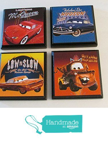 Disney Cars Room Wall Plaques - Set #2 - Set of 4 Disney Cars Boys Room Decor - Cars Room Sign - Lightning McQueen | Mater | Hudson | Low N Slow from ScooBaDee Gifts http://www.amazon.com/dp/B01BWDCEUM/ref=hnd_sw_r_pi_dp_WUg2wb0ET2148 #handmadeatamazon