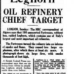 articolo 31 maggio 1943 livorno target raffineria