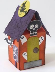 mini milk carton haunted house - Halloween Cartons