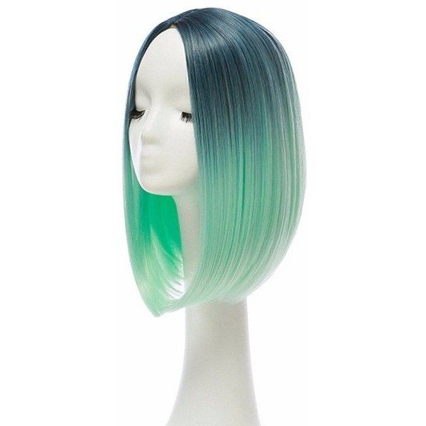 36cm Gradient Hair Straight Bob Wigs Heat Resistant Synthetic Lace... ($13) ❤ liked on Polyvore featuring beauty products, haircare, straightening iron, flat iron, straight iron and styling iron