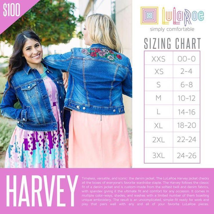 LuLaRoe Size Chart  #lularoe #sizechart #harvey