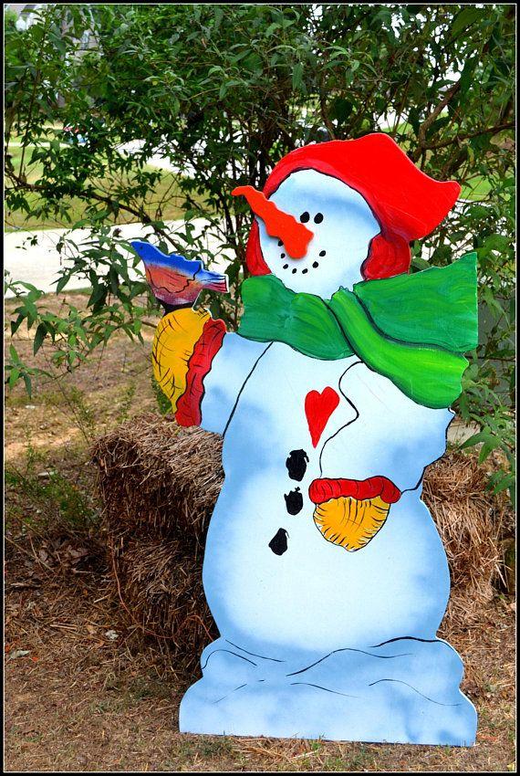 Snowman Yard Art, Life Sized Snowman, LARGE Snowman Yard Art