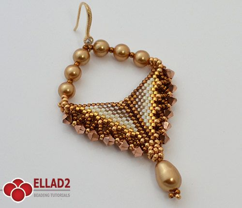 Tutorial Grace Earrings  Beading Tutorial Beading Pattern